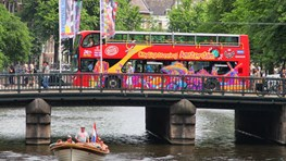 Hop on hop off bus en boot CitySightseeing Amsterdam
