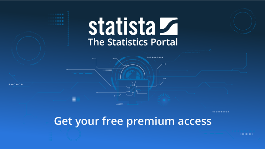 Free premium access to stats and infographics with Statista